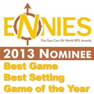 Broken Rooms nominated for Best Game, Best Setting and Game of the Year in the 2013 ENnies